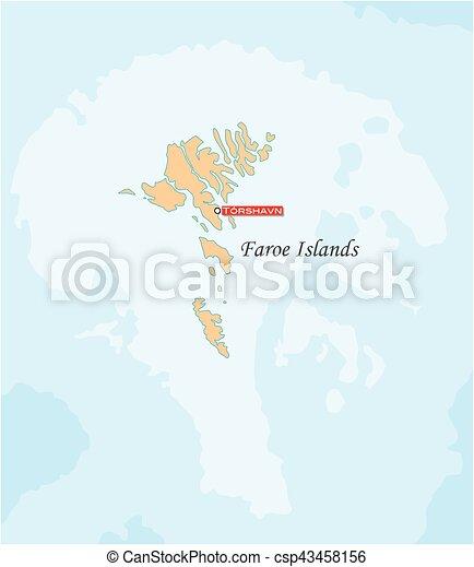 Karta Grupp Enkel O Faroe Oar Autonom