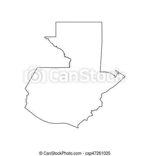 Karta Guatemala Silhuett Karta Silhuett Illustration
