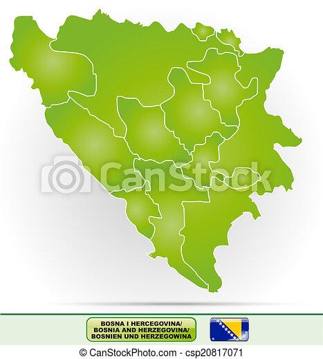 Karta Bosnien Och Hercegovina.Karta Herzegovina Bosnien Karta Kanter Herzegovina Gron Bosnien