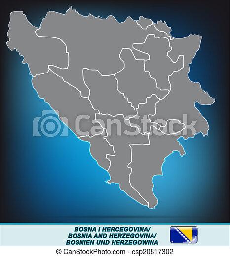 Karta Bosnien Och Hercegovina.Karta Herzegovina Bosnien Karta Bosnien Gra Herzegovina