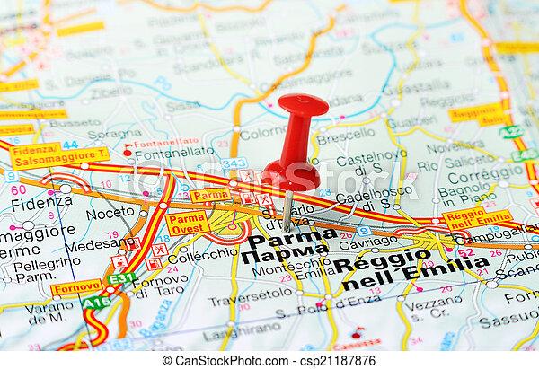 karta italien parma Karta, italien, parma. Karta, begrepp, italien, stift, resa  karta italien parma