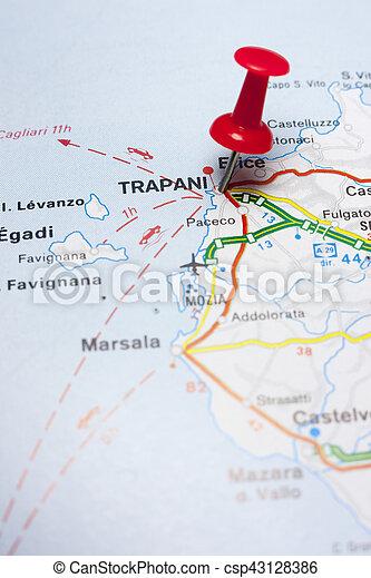 Narbild Karta Italien Trapani