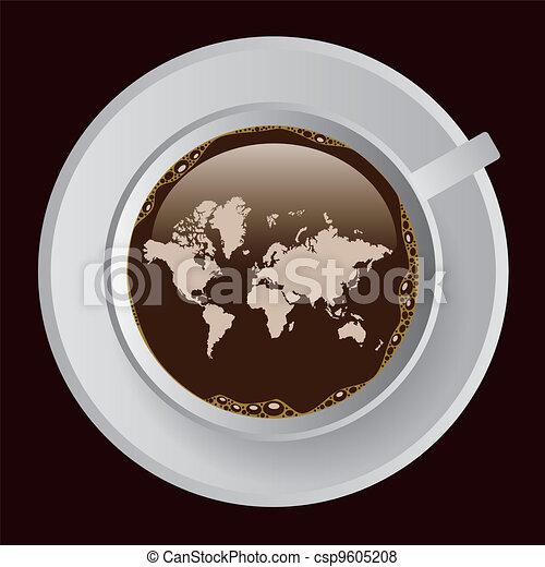 karta, kaffe - csp9605208