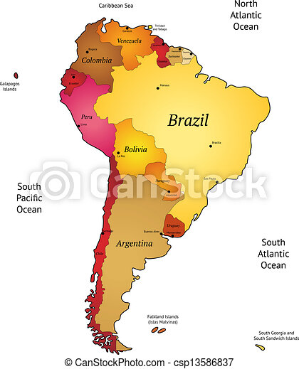 latinamerika karta Karta, latinamerika. Vektor, karta, america., latin, illustration. latinamerika karta