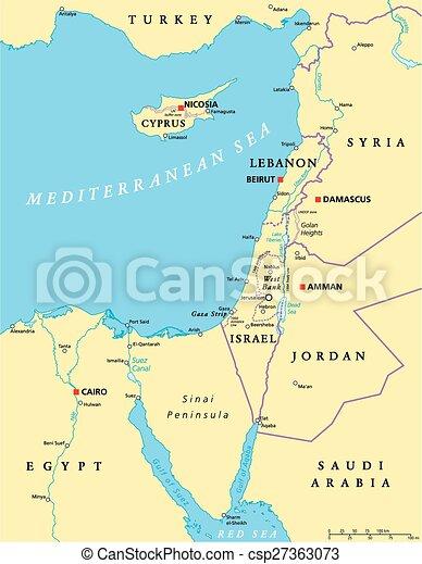 medelhavet karta Karta, medelhavet, politisk, östlig. Karta, scaling., illustration  medelhavet karta