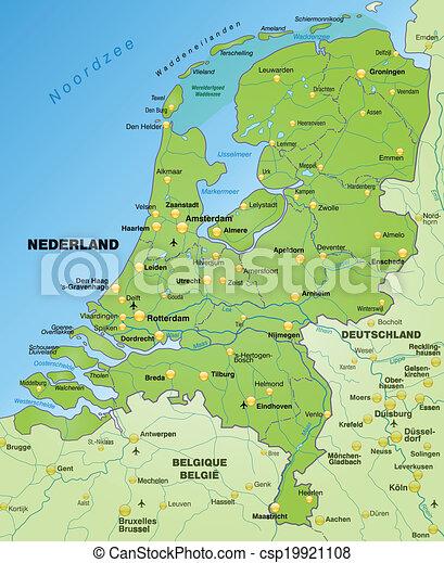 karta, nederländerna - csp19921108