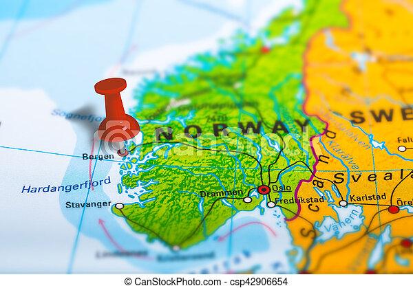 Karta Norge Stavanger.Karta Norge Bergen Karta Skola Fargrik Effect Luta Politisk