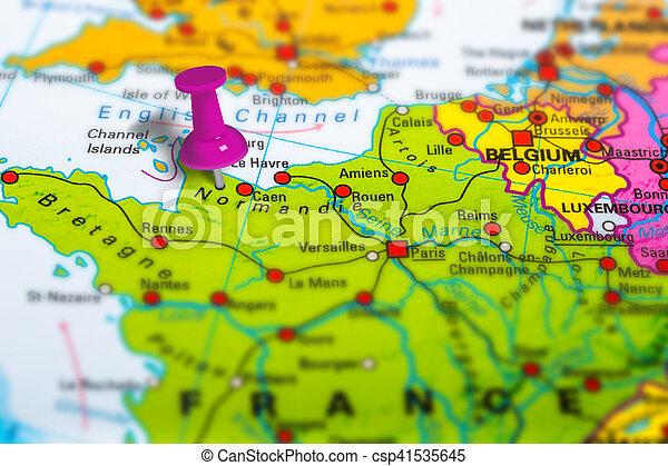 Karta Normandie Frankrike Karta Skola Normandie Fargrik