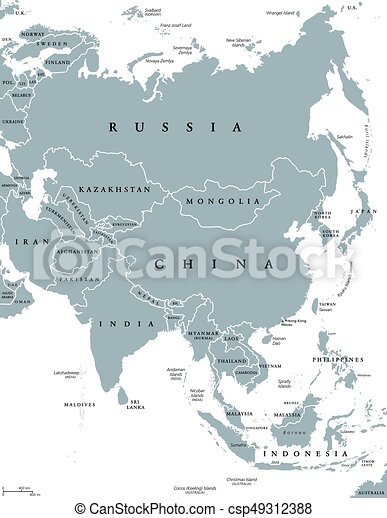 Karta Politisk Asien Labeling Karta Gra Storst Politisk