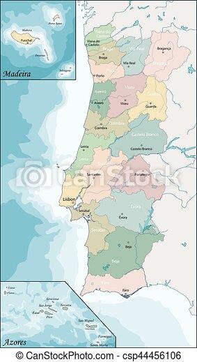 Karta Europa Portugal.Karta Portugal Europa Portugisisk Land Iberisk Halvo Republik