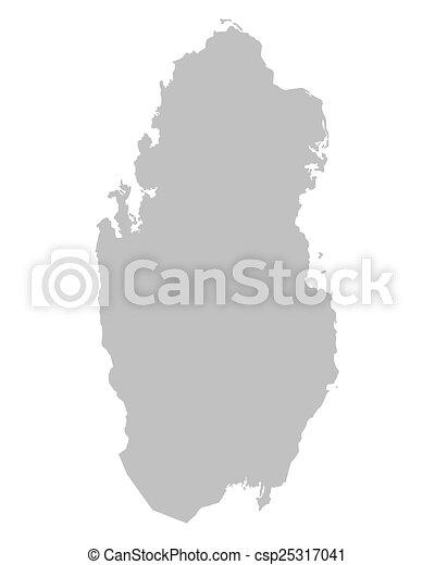 Karta Qatar Gra