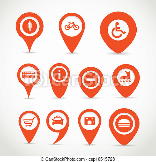 karta, röd, undertecknar - csp16515728