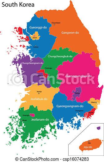 karta, södra korea - csp16074283