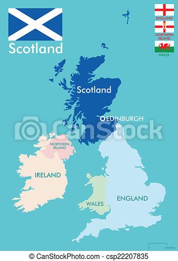 Karta Skottland