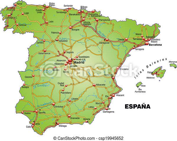 Karta Spanien Granada.Motorvagen Karta Spanien