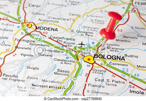 Karta Stad Vag Bologna Karta Italien Bologna Vag Stad