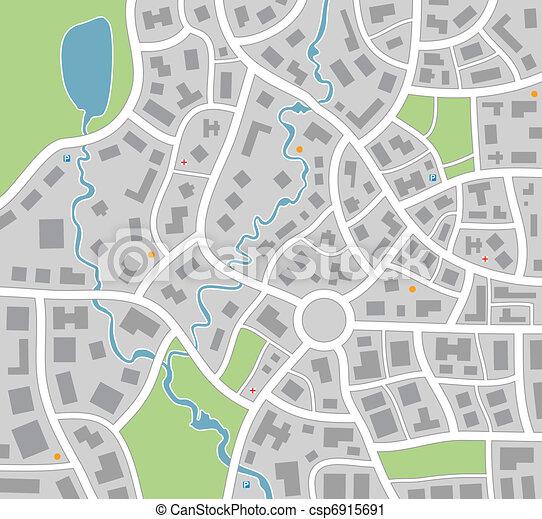 karta, stad - csp6915691