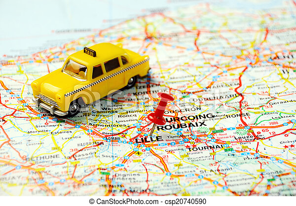 lille frankrike karta Karta stift, lille. Taxi, karta stift, pekande, lille  lille frankrike karta