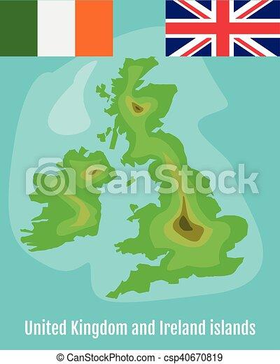 Seaside Storbritannien Karta Tom Karta Over Storbritannien Och