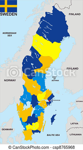 politisk karta Karta, sverige, politisk. Karta, mycket, stor, politisk, sverige  politisk karta