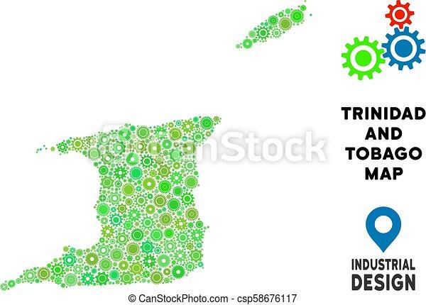 Karta Tobago Utrustar Mosaik Trinidad Geografisk Company