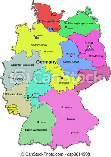 Karta Tyskland Karta Over Tyskland Vit