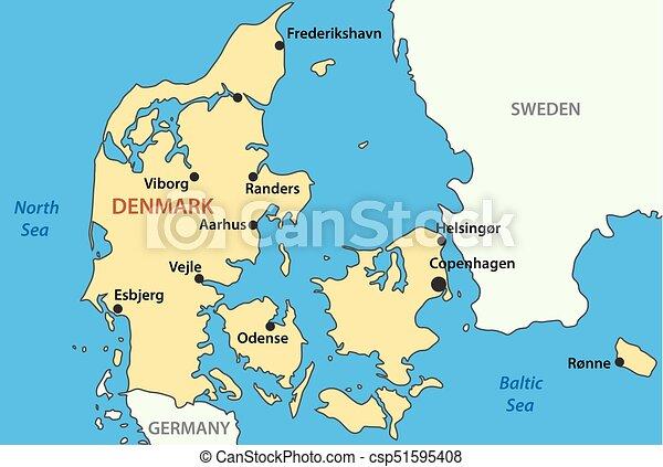 Karta Vektor Danmark