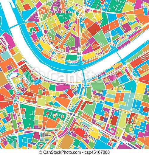 tyskland karta dresden Karta, vektor, dresden, färgrik, tyskland. Separerat, vektor  tyskland karta dresden