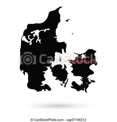Karta Vit Svart Fond Danmark Karta Vit Svart Bakgrund