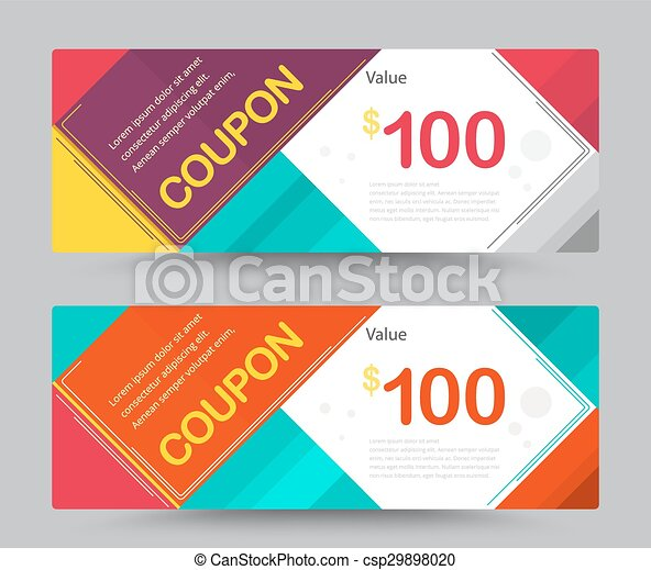 Karte, geben, danken, geschenk, coupon, sale., vektor, schablone ...