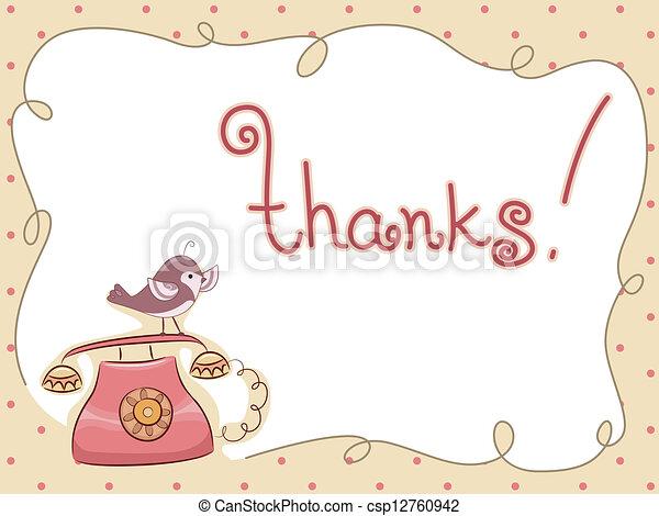 Danke, dass Sie mir den Vogel per Telefon gegeben haben - csp12760942