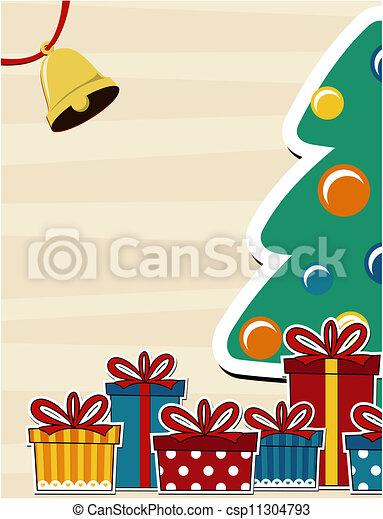 karte, weihnachten, hintergrund - csp11304793