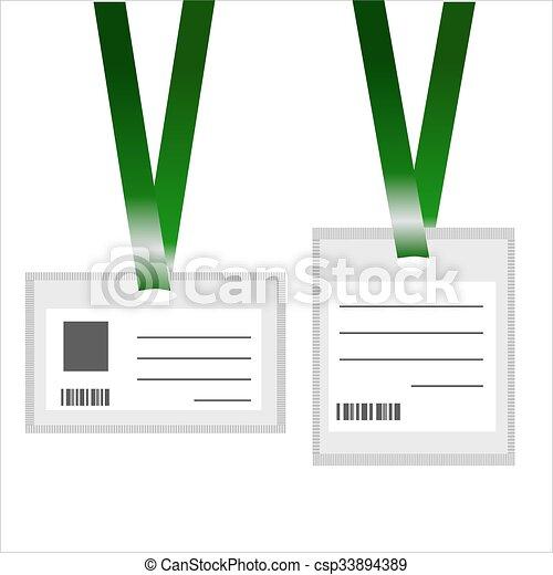 Karten, ausweis. Karten, realistisch, weißes, ausweis,... Vektor ...