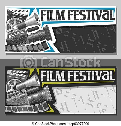 karten, fest, vektor, film - csp63977209