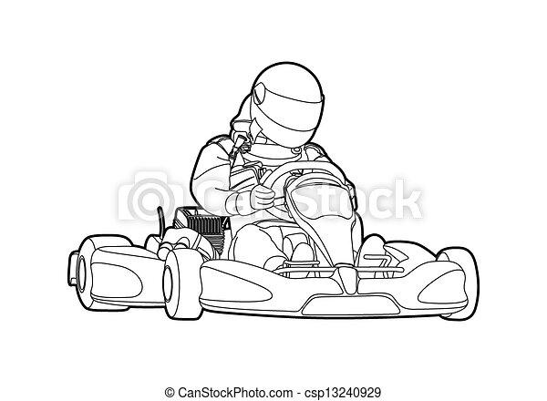 Karting - csp13240929