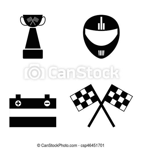 karting, set., ícone - csp46451701
