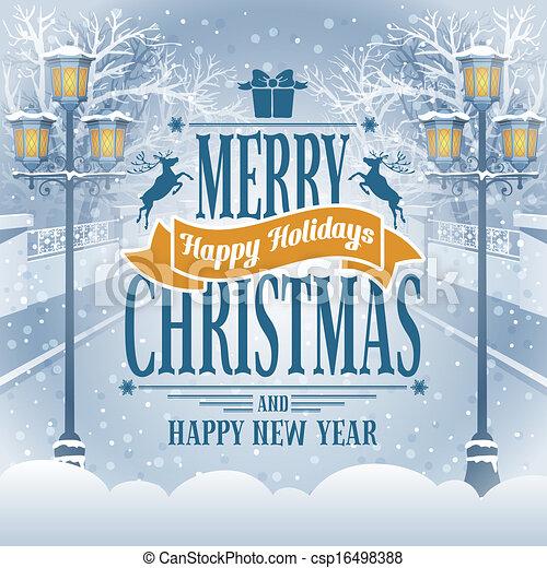 kartka na boże narodzenie, powitanie - csp16498388
