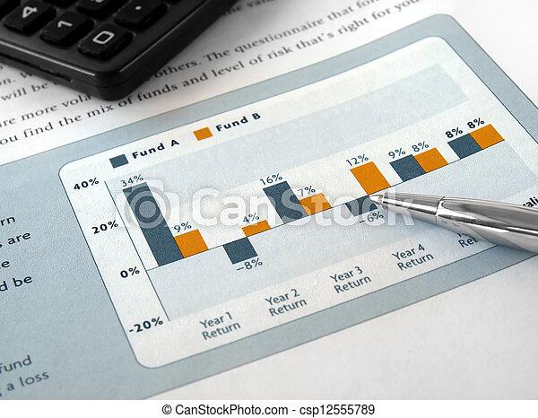 kartlägga, investering - csp12555789