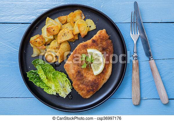 kartoffeln zitrone salat schnitzel kartoffeln lemon bild suche foto clipart csp36997176. Black Bedroom Furniture Sets. Home Design Ideas