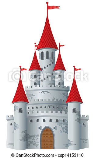 kasteel, fairy-verhaal - csp14153110