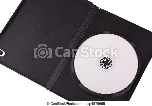 Kasten Dvd Freigestellt Hintergrund Weißes Scheibe