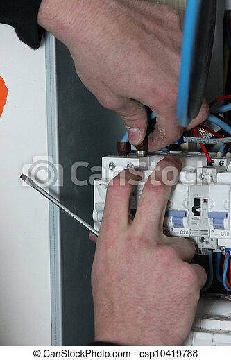 Kasten, elektriker, sicherung, verdrahtung Bilder - Fotografien und ...