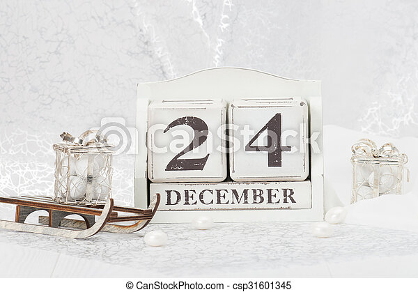 Weihnachten Datum.Kasten Geschenk Calendar Dezember 24 Vorabend Süßigkeiten Sleigh Decorations Datum Weihnachten