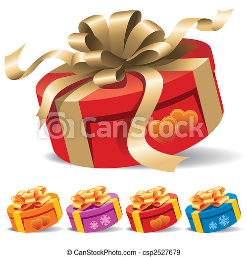 kasten, geschenk - csp2527679
