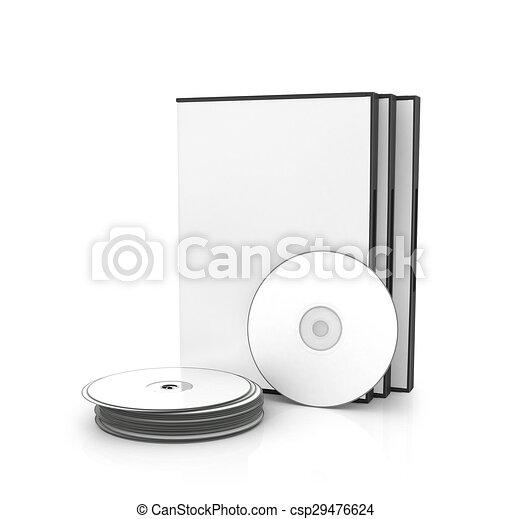 Kasten Hintergrund Scheiben Freigestellt Cd Dvd Weißes