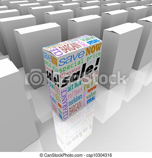 Ein Produkt-Box im Verkauf besten Preis-Wettbewerb Store - csp10304316