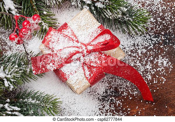 kasten, tanne, weihnachtsgeschenk - csp62777844