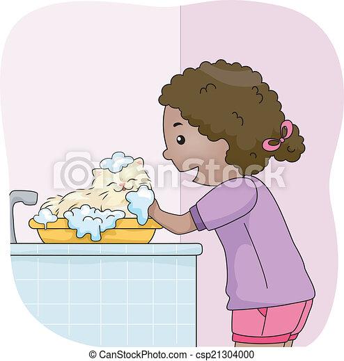 kåt pige i bad