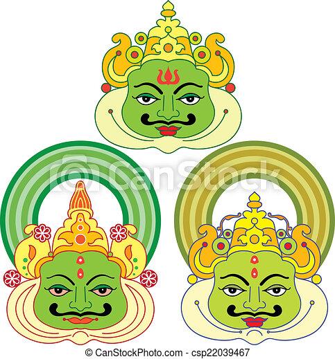 kathakali face mask paint vector art clip art vector search rh canstockphoto com clipart face painting