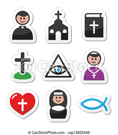 katolikus, templom, vallás, ikonok - csp13652448